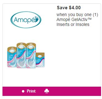 graphic regarding Amope Printable Coupon referred to as Amope GelActiv Insoles - Facts