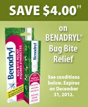 picture regarding Benadryl Printable Coupon named Benadryl Bug Chunk Reduction - Info