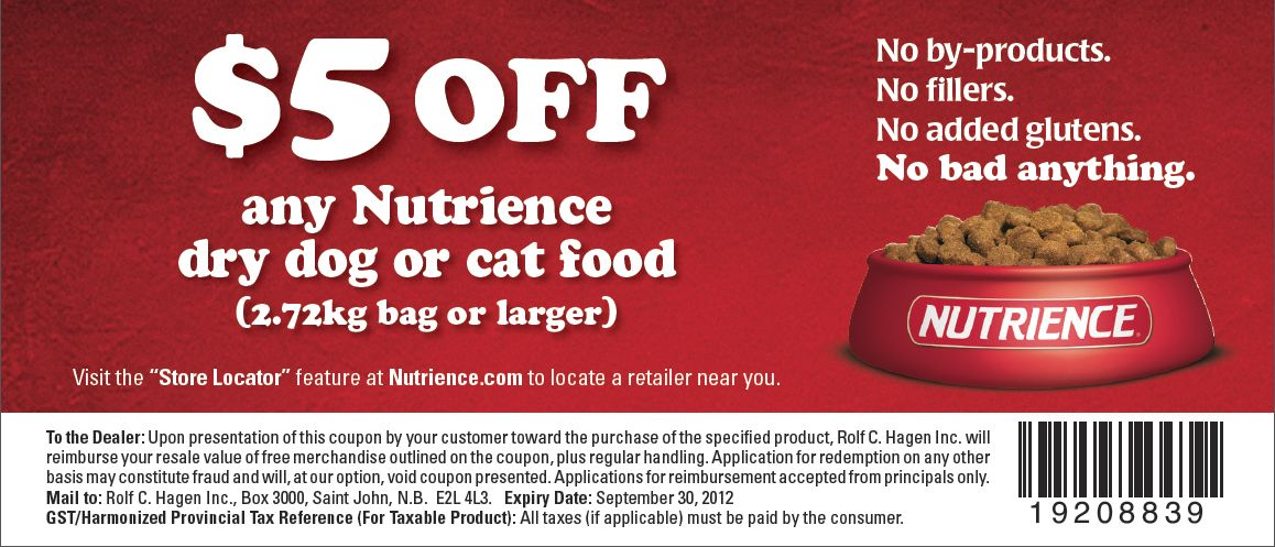 Nutro Dog Food Coupons  Canada