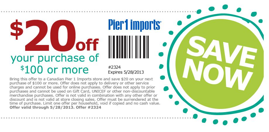 Pier 1 coupon code june 2018