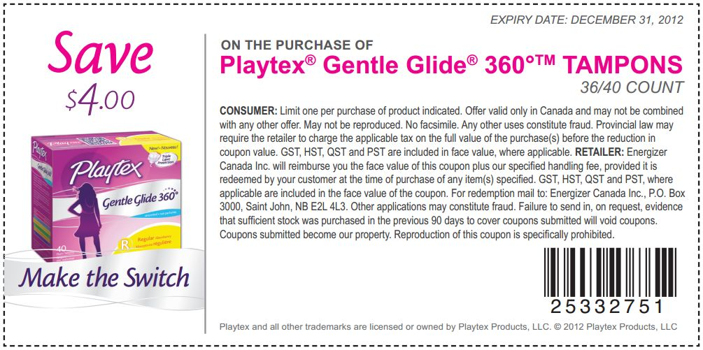 With these coupons, you can save on everything from baby products to household items. For babies, Playtex provides safe and functional bottles, cups, bottle nipples and diaper containers. Women can find coupons for Playtex tampons and other feminine care items, available in .