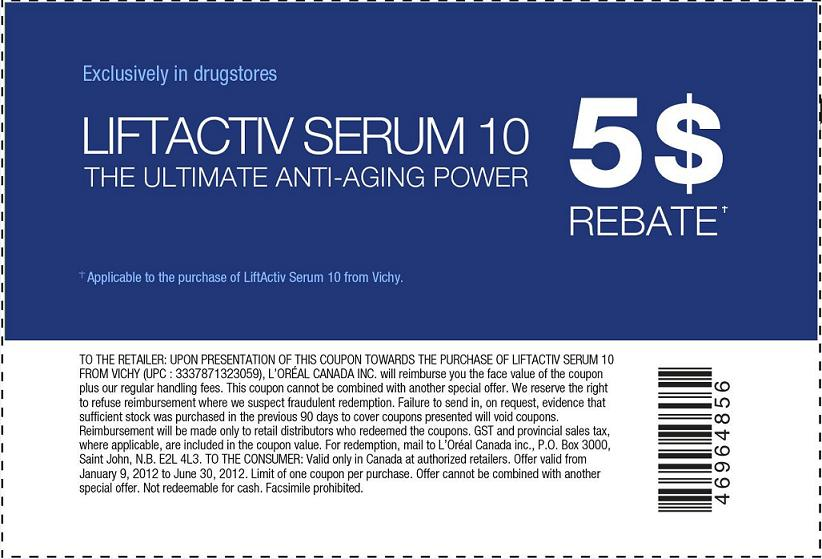 picture relating to Vichy Coupon Printable referred to as Vichy LiftActiv - Facts