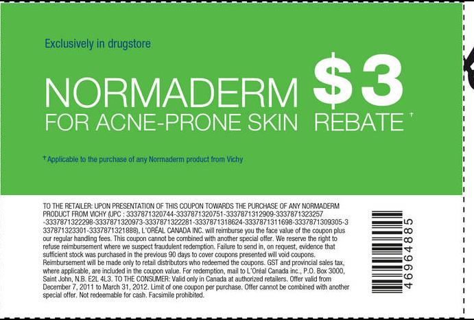 photograph about Vichy Coupon Printable titled Vichy Normaderm - Information