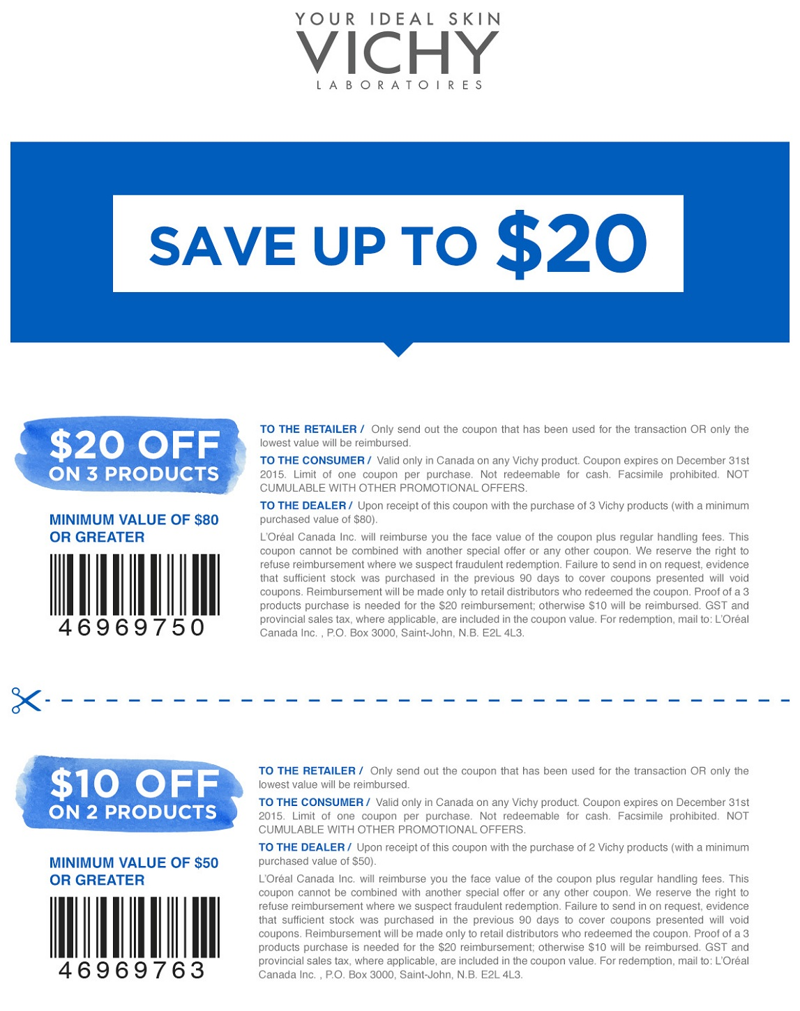 photo regarding Vichy Coupon Printable named Vichy - Info
