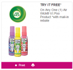 coupon air wick life scents 5$